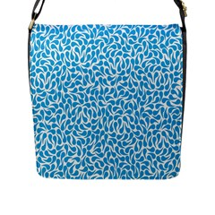 Pattern Blue Flap Messenger Bag (l)  by Mariart