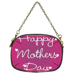 Valentine Happy Mothers Day Pink Heart Love Chain Purses (one Side)  by Mariart