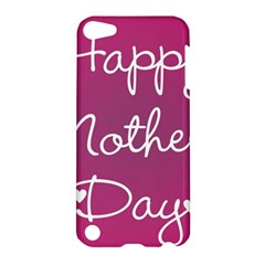 Valentine Happy Mothers Day Pink Heart Love Apple Ipod Touch 5 Hardshell Case by Mariart