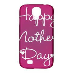 Valentine Happy Mothers Day Pink Heart Love Samsung Galaxy S4 Classic Hardshell Case (pc+silicone) by Mariart