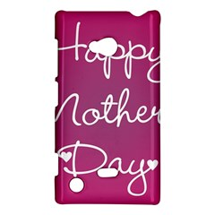 Valentine Happy Mothers Day Pink Heart Love Nokia Lumia 720 by Mariart