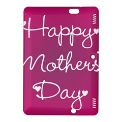 Valentine Happy Mothers Day Pink Heart Love Kindle Fire Hdx 8 9  Hardshell Case by Mariart