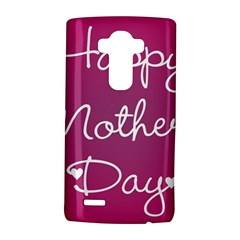 Valentine Happy Mothers Day Pink Heart Love Lg G4 Hardshell Case by Mariart