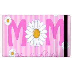 Valentine Happy Mothers Day Pink Heart Love Sunflower Flower Apple Ipad 2 Flip Case by Mariart