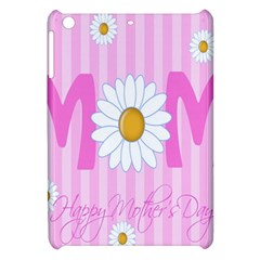 Valentine Happy Mothers Day Pink Heart Love Sunflower Flower Apple Ipad Mini Hardshell Case by Mariart