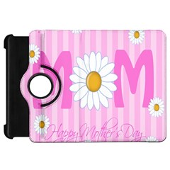 Valentine Happy Mothers Day Pink Heart Love Sunflower Flower Kindle Fire Hd 7  by Mariart