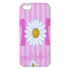 Valentine Happy Mothers Day Pink Heart Love Sunflower Flower Iphone 5s/ Se Premium Hardshell Case by Mariart