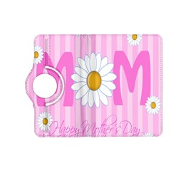 Valentine Happy Mothers Day Pink Heart Love Sunflower Flower Kindle Fire Hd (2013) Flip 360 Case by Mariart