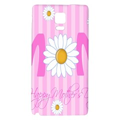 Valentine Happy Mothers Day Pink Heart Love Sunflower Flower Galaxy Note 4 Back Case by Mariart