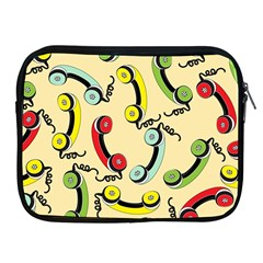 Telephone Cable Green Nyellow Red Blue Apple Ipad 2/3/4 Zipper Cases by Mariart