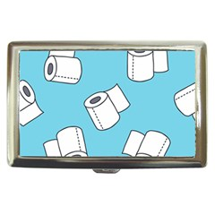 Roller Tissue White Blue Restroom Cigarette Money Cases by Mariart
