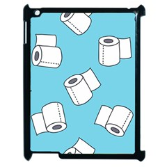 Roller Tissue White Blue Restroom Apple Ipad 2 Case (black) by Mariart