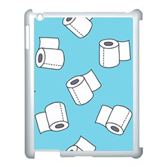 Roller Tissue White Blue Restroom Apple Ipad 3/4 Case (white) by Mariart