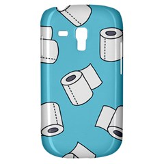 Roller Tissue White Blue Restroom Galaxy S3 Mini by Mariart