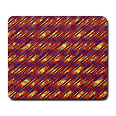 Linje Chevron Blue Yellow Brown Large Mousepads by Mariart