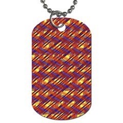 Linje Chevron Blue Yellow Brown Dog Tag (one Side) by Mariart