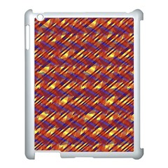 Linje Chevron Blue Yellow Brown Apple Ipad 3/4 Case (white) by Mariart