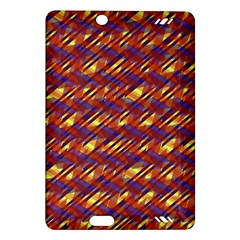 Linje Chevron Blue Yellow Brown Amazon Kindle Fire Hd (2013) Hardshell Case by Mariart