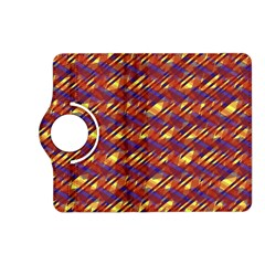 Linje Chevron Blue Yellow Brown Kindle Fire Hd (2013) Flip 360 Case by Mariart