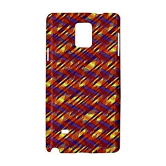 Linje Chevron Blue Yellow Brown Samsung Galaxy Note 4 Hardshell Case by Mariart