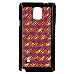 Linje Chevron Blue Yellow Brown Samsung Galaxy Note 4 Case (black) by Mariart