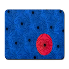 Pink Umbrella Red Blue Large Mousepads by Mariart