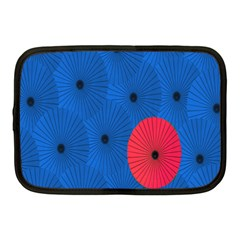 Pink Umbrella Red Blue Netbook Case (medium)  by Mariart