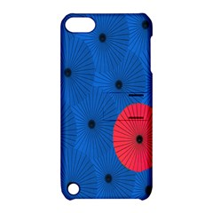 Pink Umbrella Red Blue Apple Ipod Touch 5 Hardshell Case With Stand by Mariart