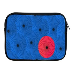 Pink Umbrella Red Blue Apple Ipad 2/3/4 Zipper Cases by Mariart