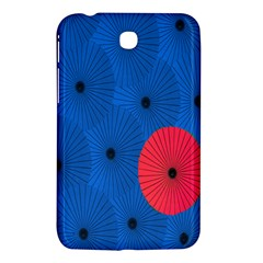 Pink Umbrella Red Blue Samsung Galaxy Tab 3 (7 ) P3200 Hardshell Case  by Mariart