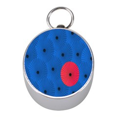 Pink Umbrella Red Blue Mini Silver Compasses by Mariart