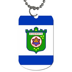 Flag Of Tel Aviv  Dog Tag (two Sides) by abbeyz71