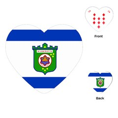 Flag Of Tel Aviv  Playing Cards (heart)  by abbeyz71