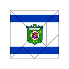 Flag Of Tel Aviv  Acrylic Tangram Puzzle (4  X 4 ) by abbeyz71