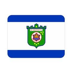 Flag Of Tel Aviv  Double Sided Flano Blanket (mini)  by abbeyz71