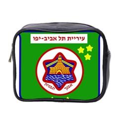 Tel Aviv Coat Of Arms  Mini Toiletries Bag 2 Side by abbeyz71