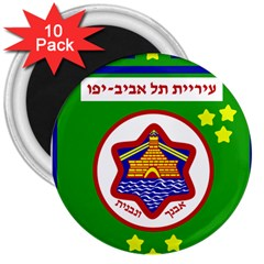 Tel Aviv Coat Of Arms  3  Magnets (10 Pack)  by abbeyz71