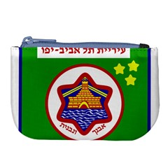 Tel Aviv Coat Of Arms  Large Coin Purse by abbeyz71