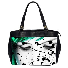 Beauty Woman Close Up Artistic Portrait Office Handbags (2 Sides)  by dflcprints