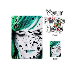 Beauty Woman Close Up Artistic Portrait Playing Cards 54 (mini)  by dflcprints