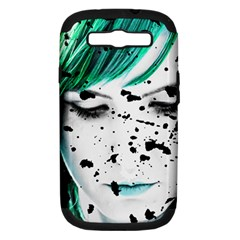 Beauty Woman Close Up Artistic Portrait Samsung Galaxy S Iii Hardshell Case (pc+silicone) by dflcprints