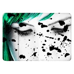 Beauty Woman Close Up Artistic Portrait Samsung Galaxy Tab 8.9  P7300 Flip Case by dflcprints