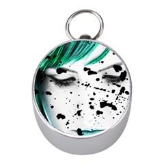 Beauty Woman Close Up Artistic Portrait Mini Silver Compasses by dflcprints
