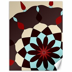 Red And Black Flower Pattern Canvas 12  X 16   by theunrulyartist