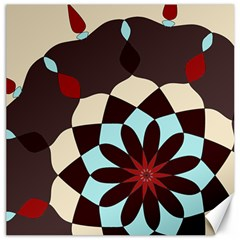 Red And Black Flower Pattern Canvas 20  X 20   by theunrulyartist