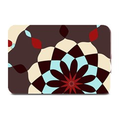 Red And Black Flower Pattern Plate Mats by digitaldivadesigns