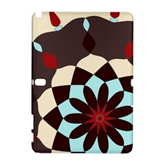 Red And Black Flower Pattern Galaxy Note 1 by theunrulyartist