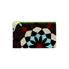Red And Black Flower Pattern Cosmetic Bag (xs) by theunrulyartist