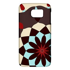 Red And Black Flower Pattern Galaxy S6 by theunrulyartist