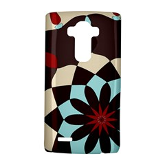 Red And Black Flower Pattern Lg G4 Hardshell Case by theunrulyartist